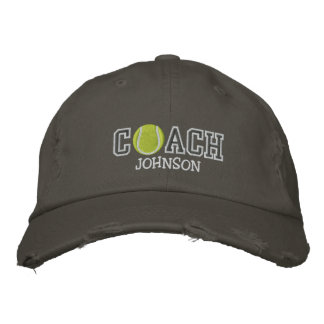 Tennis Coach Embroidered Hats