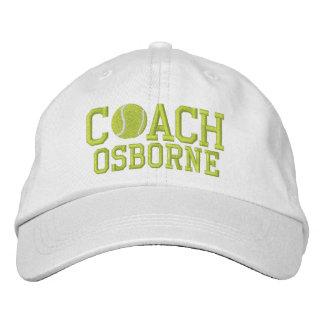 Tennis Coach Personalized Baseball Cap