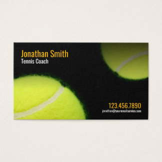 Tennis Coach Trainer Practice Lessons Appointment Business Card