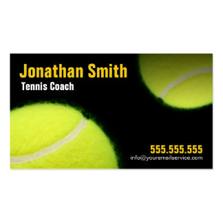 Tennis Coaching For Tennis Instruction Pack Of Standard Business Cards