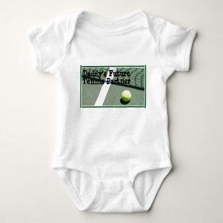 tennis_court, Daddy's Future Tennis Partner Baby Bodysuit