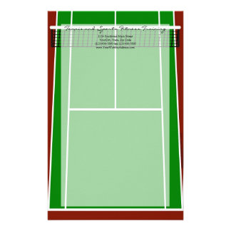 Tennis Court Layout Graphic Custom Stationery