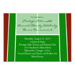Tennis Court Layout Graphic Personalized Invites