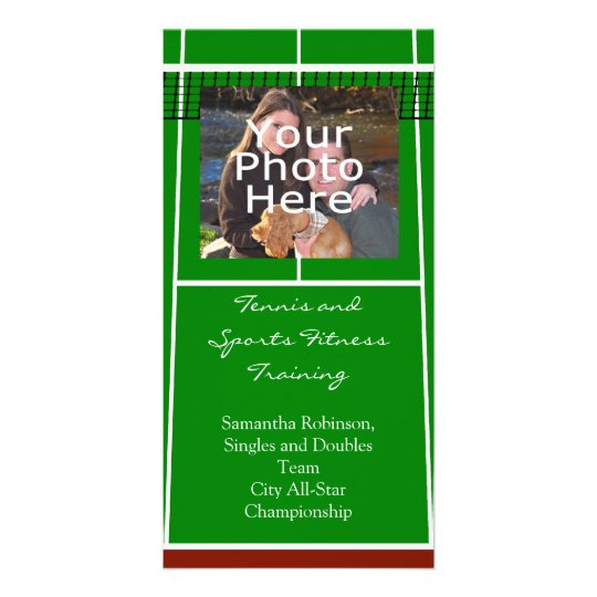 Tennis Court Layout Graphic Picture Card