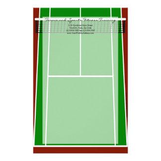 Tennis Court Layout Graphic Stationery Design