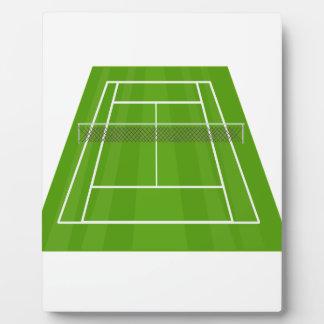 Tennis Court Plaque