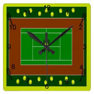Tennis Court & Tennis Racquets Wall Clock