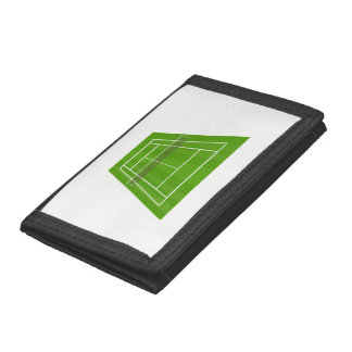 Tennis court tri-fold wallets