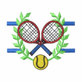 Tennis Crest Embroidered Hooded Sweatshirt