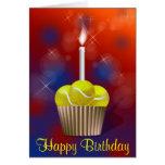 Tennis Cupcake, Happy Birthday Card