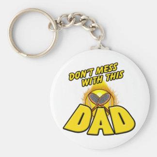 Tennis Dad Basic Round Button Key Ring