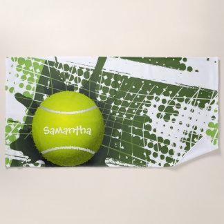 Tennis Design Beach Towel