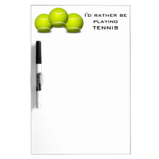 Tennis Design Dry Erase Board