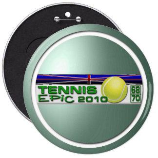 Tennis Epic 2010 6 Cm Round Badge
