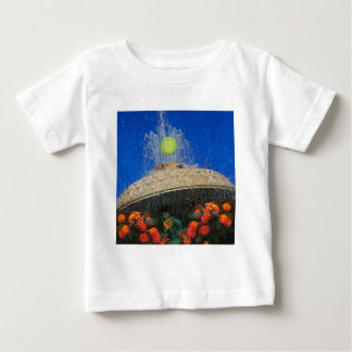 Tennis, fountain and flowers baby T-Shirt