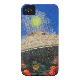 Tennis, fountain and flowers iPhone 4 Case-Mate case