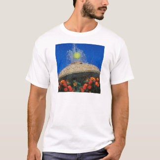 Tennis, fountain and flowers T-Shirt