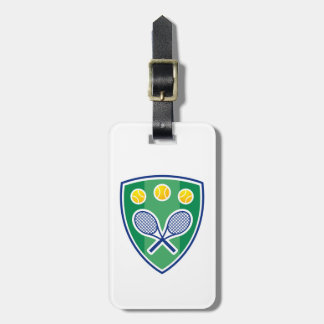 Tennis gift luggage tag