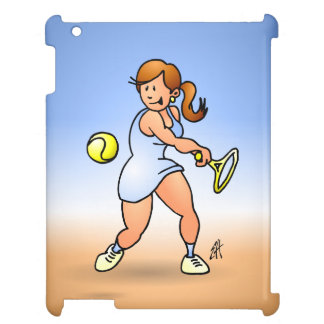 Tennis girl hitting a backhand case for the iPad 2 3 4
