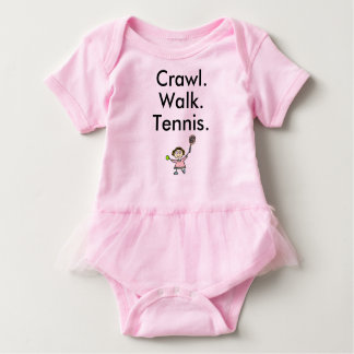 Tennis Girl Pink Baby Bodysuit with Tutu