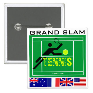 Tennis Grand Slam Court Button