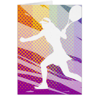 Tennis greeting card for women and girls