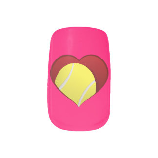 Tennis Heart Nails Sticker