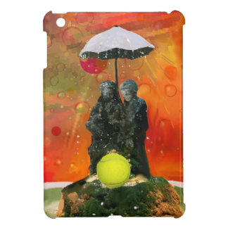 Tennis in a fountain case for the iPad mini