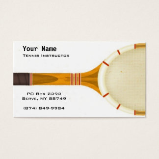 Tennis Instruction Business Card