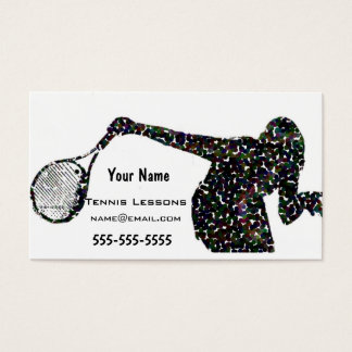 Tennis Instructor Business Card
