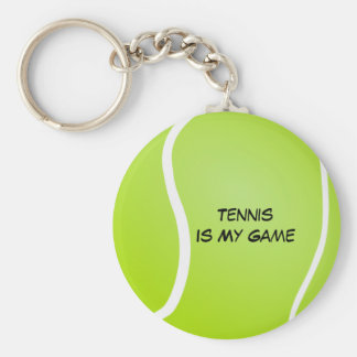 Tennis Is My Game Basic Round Button Key Ring