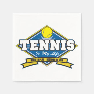Tennis is My Life Disposable Napkin