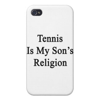 Tennis Is My Son's Religion Cover For iPhone 4