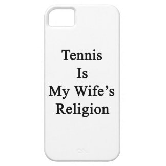 Tennis Is My Wife's Religion iPhone 5 Cases