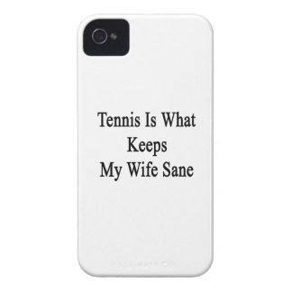 Tennis Is What Keeps My Wife Sane Case-Mate iPhone 4 Cases