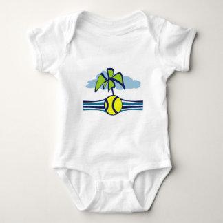 Tennis Island Tropical Summer Baby Bodysuit
