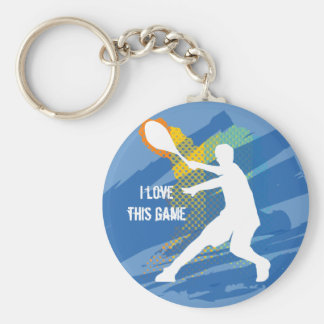 Tennis Keychain: I love this game Key Ring