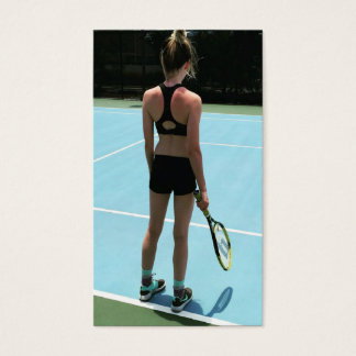 Tennis Lessons Business Card