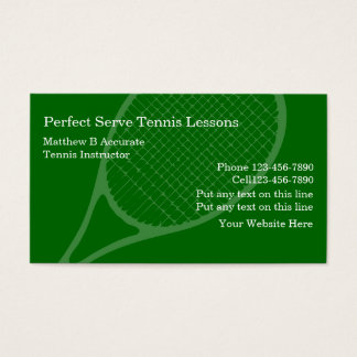 Tennis Lessons Business Cards