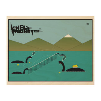 Tennis Lonely Monster Wood Wall Art