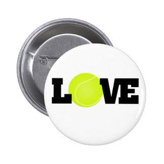 Tennis Love 6 Cm Round Badge