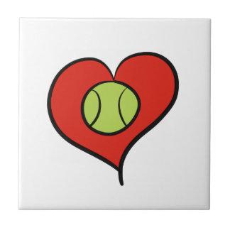 Tennis love ceramic tile