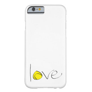 "Tennis Love iPhone 6 ""Barely There"" Case (small)"