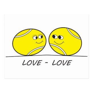 Tennis Love-Love Postcard