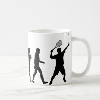 Tennis Man Basic White Mug