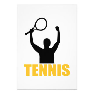 Tennis match champion custom announcement