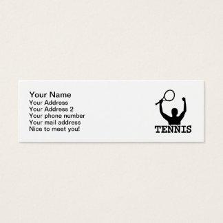 Tennis match winner mini business card