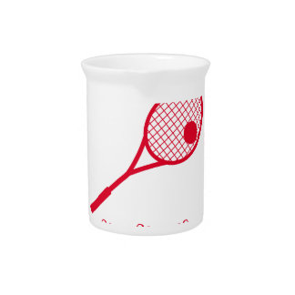 TENNIS MERRY CHRISTMAS . PITCHER