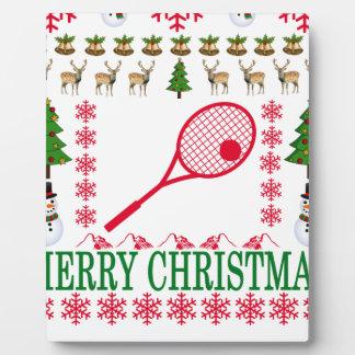 TENNIS MERRY CHRISTMAS . PLAQUE