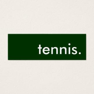 tennis. mini business card